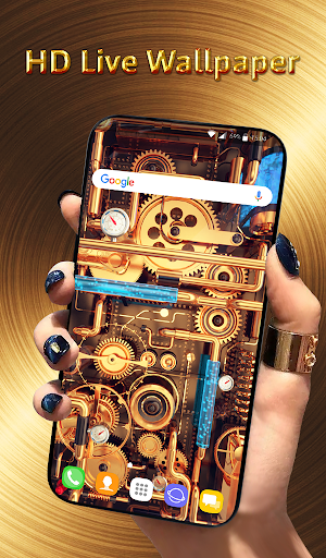 Cool Wallpapers and Keyboard - Steampunk Pipes android2mod screenshots 1