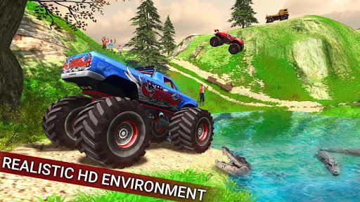 Offroad Monster Hill Truck modiapk screenshots 1