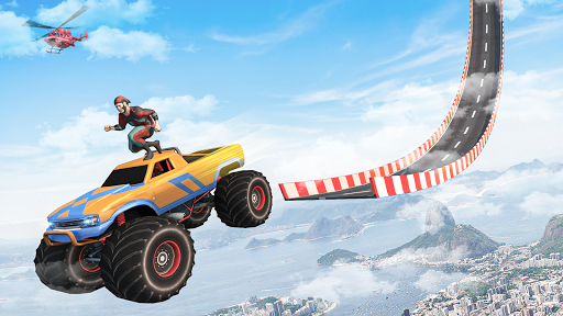Superhero Mega Ramps: GT Racing Car Stunts Game screenshots 1