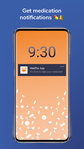 Pill reminder and medication tracker from Medfox screenshot for Android