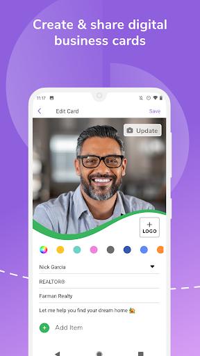 HiHello: Digital Business Card Maker and Organizer android2mod screenshots 2