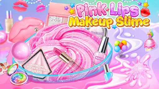 Pink Lipstick Makeup Slime 1.3 screenshots 1