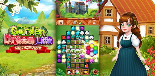 Garden Dream Life: Flower Match 3 Puzzle Apkfinish screenshots 16
