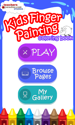 Kids Finger Painting Coloring screenshots 1