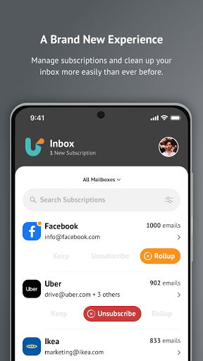 Unroll.Me - Email Cleanup  Screenshots 1