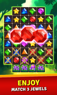 Jewels Jungle Treasure: Match 3  Puzzle 1.9.2 screenshots 1