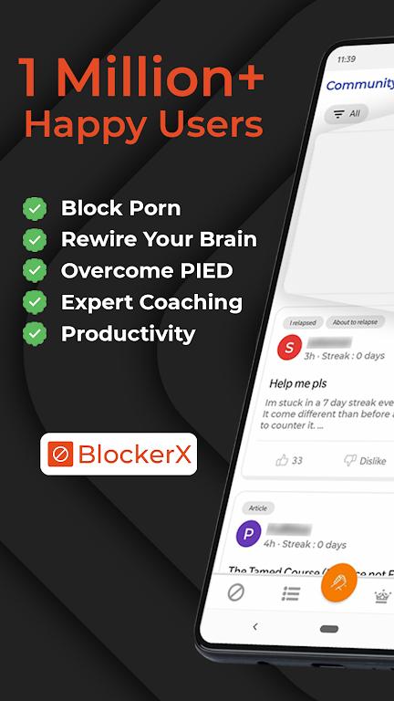BlockerX - Porn Blocker,Quit Porn & Do Safe Search poster 0