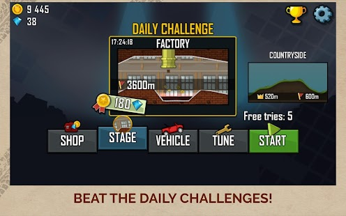 Hill Climb Racing Capture d'écran