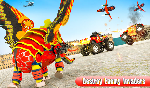 Flying Monster Truck Transform Elephant Robot Game 2.0.9 Screenshots 8