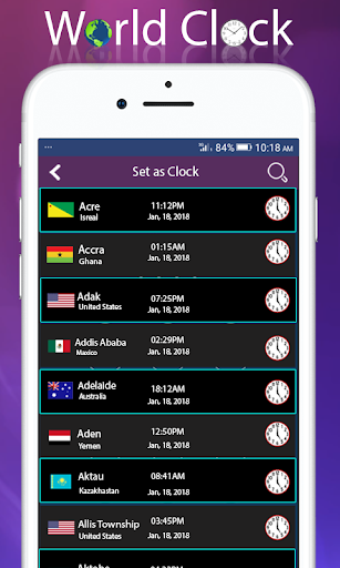 World clock widget and weather: Time of Countries  Screenshots 2