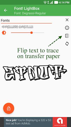 Font! Lightbox tracing app  screenshots 4