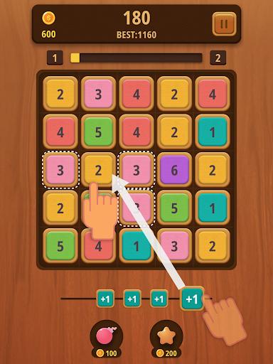 Mergezilla - Number Puzzle Apkfinish screenshots 4