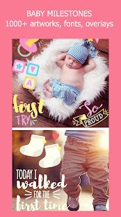 Baby Story Tracker Milestone Sticker Photo Editor