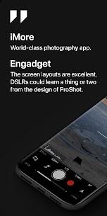 تحميل ProShot v6.3 برنامج كاميرا مهكر احترافي وكامل Android 5