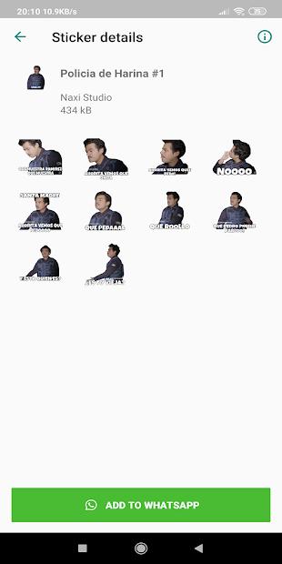 Captura 9 de Stickers Policia de Harina Para WhatsApp para android
