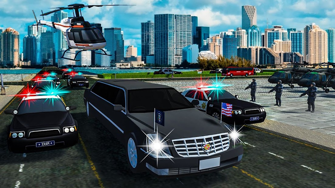 President Games: Police Helicopter & Limo Sim 🚁