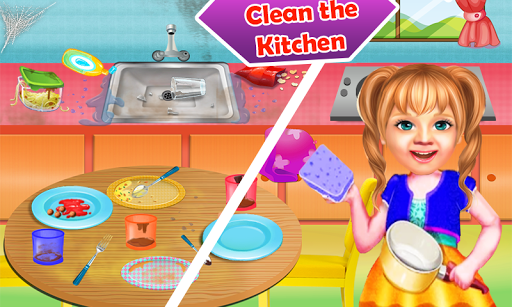 Sweet Baby Girl Cleaning Games 2021: House Cleanup screenshots 12