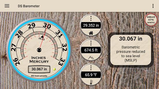 DS Barometer - Altimeter and Weather Information 3.78 Screenshots 2