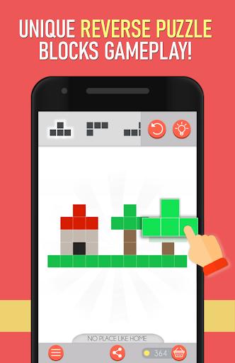 Pixel Blocks - Reverse Puzzle Game  screenshots 1