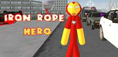 Iron Stickman Rope Hero Gangstar Crimeのおすすめ画像1
