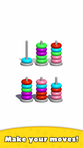 Sort Hoop Stack Color - 3D Color Sort Puzzle 3.0 screenshots 2