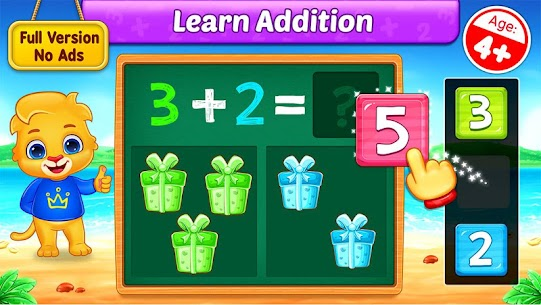 Free Math Kids – Add, Subtract, Count, and Learn 1