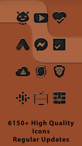 Rusted Black - Frameless Icons