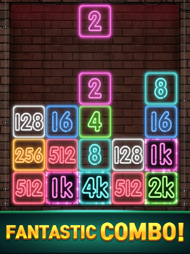 Drop Number : Neon 2048 apktram screenshots 20