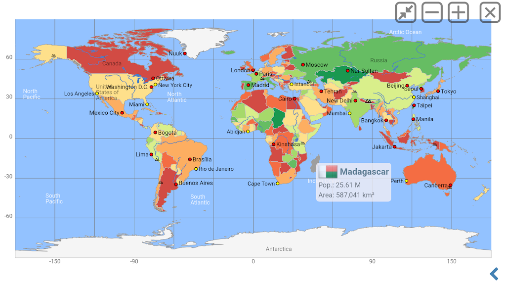 World Atlas | world map | country lexicon MxGeoPro  poster 4