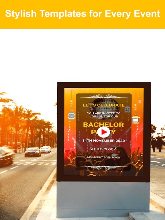 Video Invitation Maker - Create eCards  poster 4
