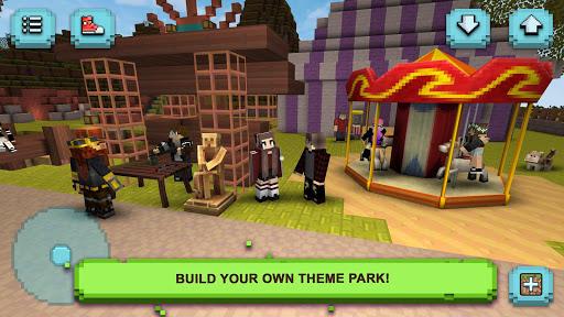 Theme Park Craft: Build & Ride  screenshots 2