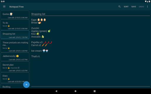 Notepad Free apktram screenshots 13
