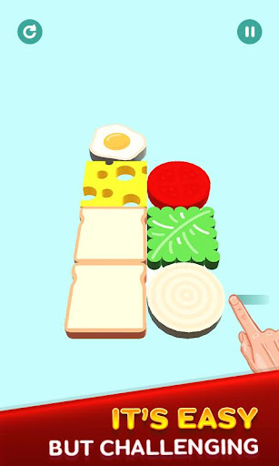 Perfect Sandwich Folding Puzzle Master android2mod screenshots 4
