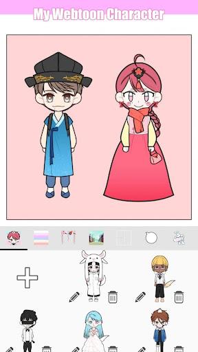 My Webtoon Character - K-pop IDOL avatar maker 2.6.0 screenshots 6