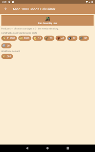 Anno 1800 Goods Calculator