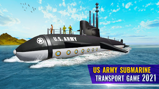 US Army Submarine Driving Military Transport Game  screenshots 1