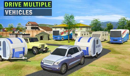 Camper Van Truck Simulator: Cruiser Car Trailer 3D screenshots 8