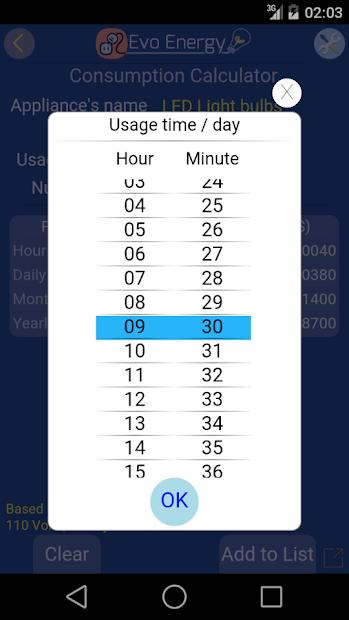 Screenshot 7 de EvoEnergy - Electricity Cost Calculator Free para android