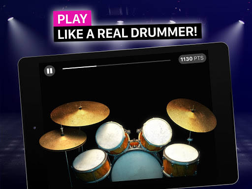 Drums: real drum set music games to play and learn apktram screenshots 13
