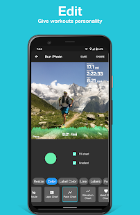 Run Photo - Add Garmin or Strava stats to pictures