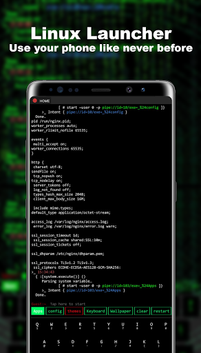 Linux Style Launcher Apk 4.4.2 screenshots 1