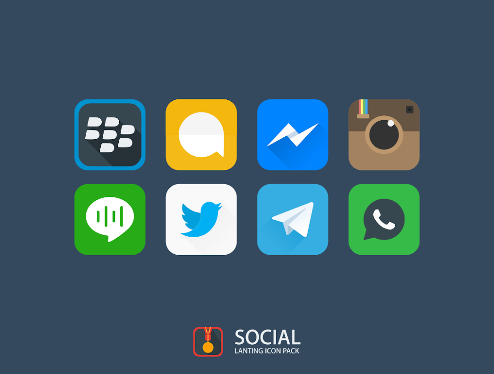 Lanting Icon Pack: Material and Colorful poster 9