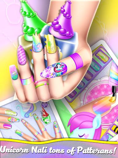 Manicure Nail Salon- Unicorn Fashion Game for Girl apkdebit screenshots 4