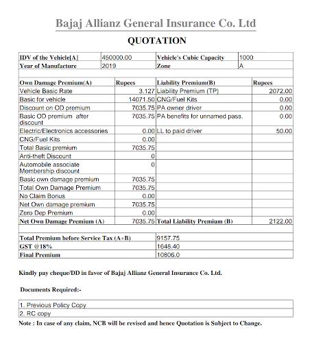 Motor Insurance Calculator Free 8.0.3 screenshots 6