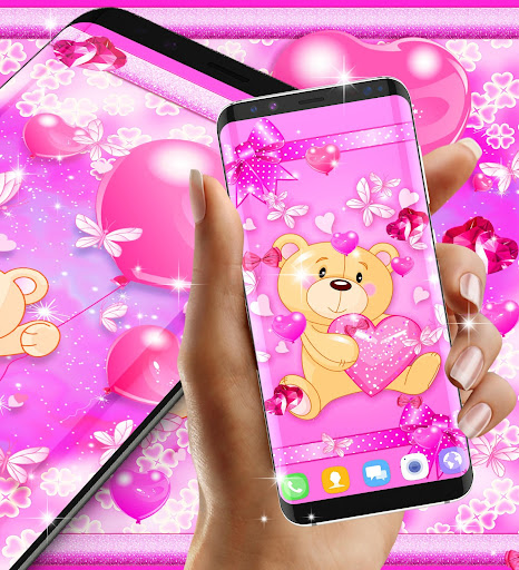 Teddy bear love hearts live wallpaper android2mod screenshots 7