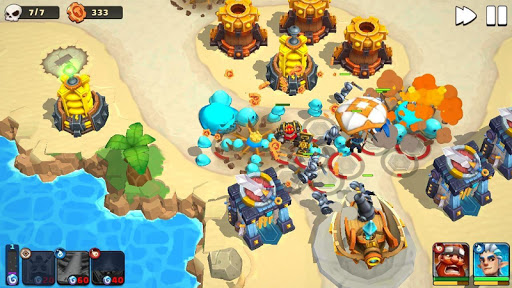 Wild Sky TD: Tower Defense Legends in Sky Kingdom  screenshots 8