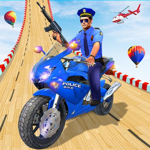 Police Bike Stunt GT Race Game