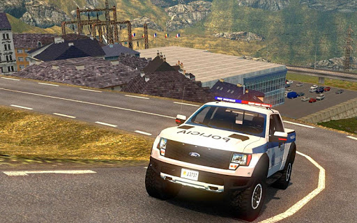 Police Car Spooky Stunt Parking: Extreme driving 1.1 screenshots 3