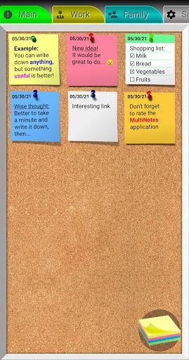 MultiNotes - Handy Reminder Notes  screenshots 1
