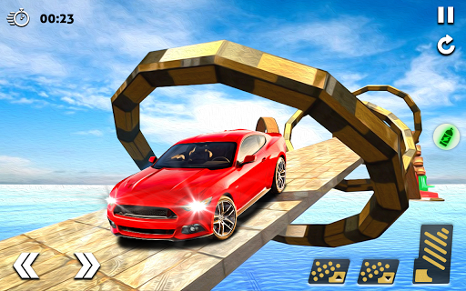 Mega Stunt Car Race Game - Free Games 2020 3.5 screenshots 18
